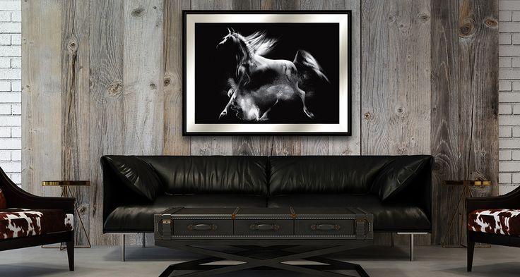 Koń 2. Seria Wiedeńska. Znany motyw konia arabskiego w nowym stylu.