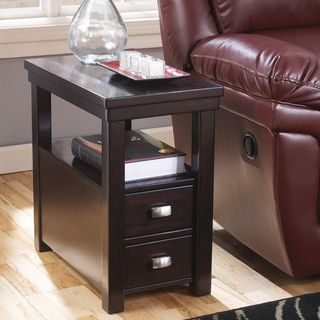 Shop for Signature Designs by Ashley Hatsuko Espresso Chair Side End Table. Get free shipping at Overstock.com - Your Online Furniture Outlet Store! Get 5% in rewards with Club O!