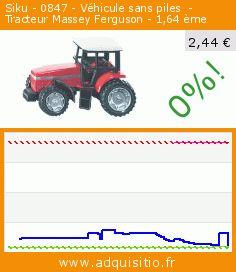 Siku - 0847 - Véhicule sans piles  -  Tracteur Massey Ferguson - 1,64 ème (Jouet). Réduction de 62%! Prix actuel 2,44 €, l'ancien prix était de 6,48 €. https://www.adquisitio.fr/siku/0847-v%C3%A9hicule-piles