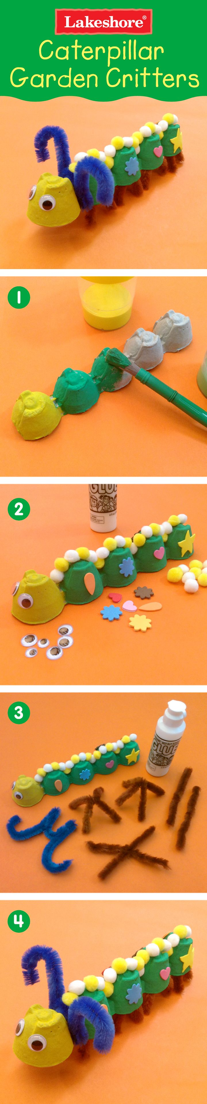 Introduce your students to the fun of reusing and recycling—with this creative Earth Day project with these Caterpillar Garden critters!