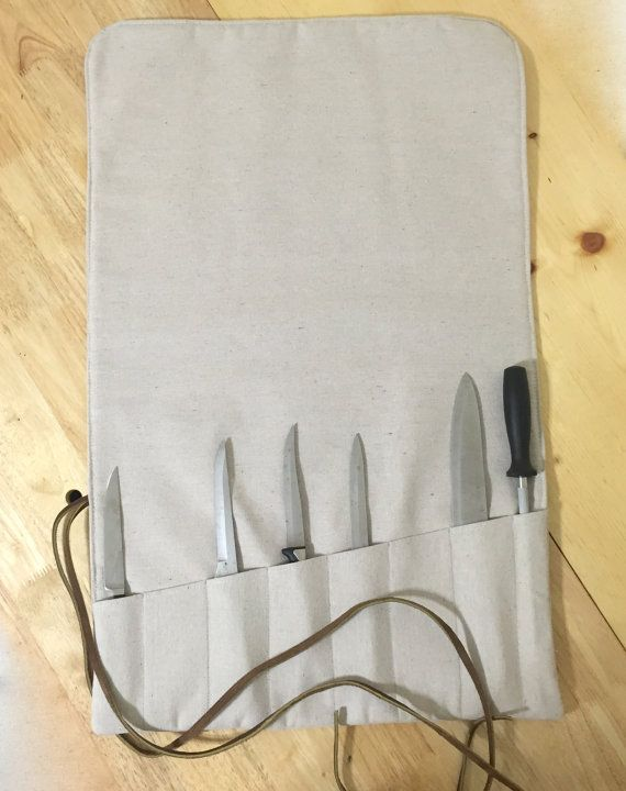 Commercial  Chef's Knife Roll/Case in Heavy Weight Canvas
