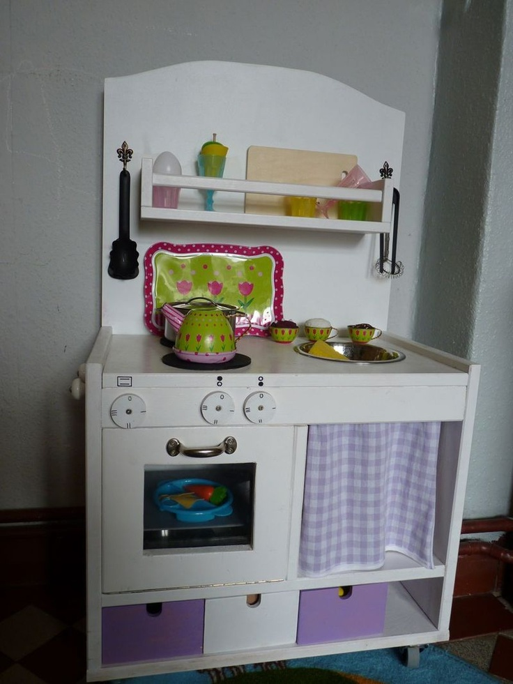 kinderk che ikea hack rast kitchen for the children kinderk che pinterest love this diy. Black Bedroom Furniture Sets. Home Design Ideas