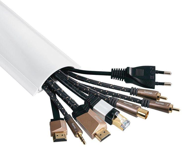 Hama Cache câble en PVC Blanc