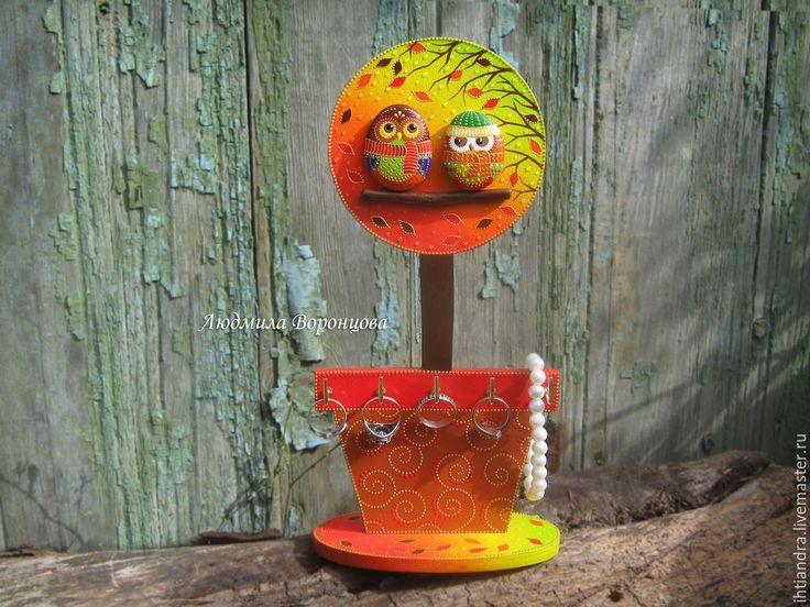 Мастер-класс: держатель для украшений «Осенний топиарий» - Ярмарка Мастеров - ручная работа, handmade
