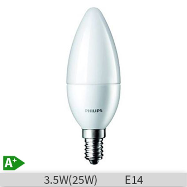 Bec LED Philips CorePro LEDcandle, forma lumanare, 3.5-25W, E14, 15000 ore, lumina calda