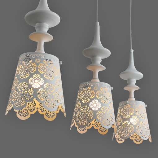 Lace Decoration for Home could make these with led's for outside