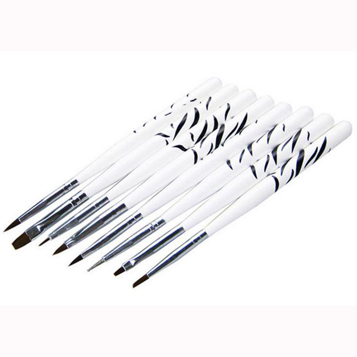8Pcs Zebra Nail Art Design Brush Set Nail Dotting Painting Pen Drawing Pen Set Acrylic Drawing Liner Tool Wholesale 100sets