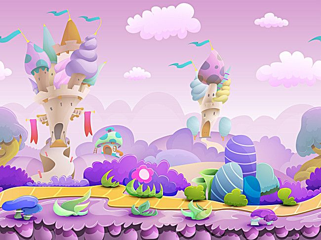 Background Cartoon Fairy Tale World Photography Backdrops Photography Vinyl Backdrops Fairy Tales