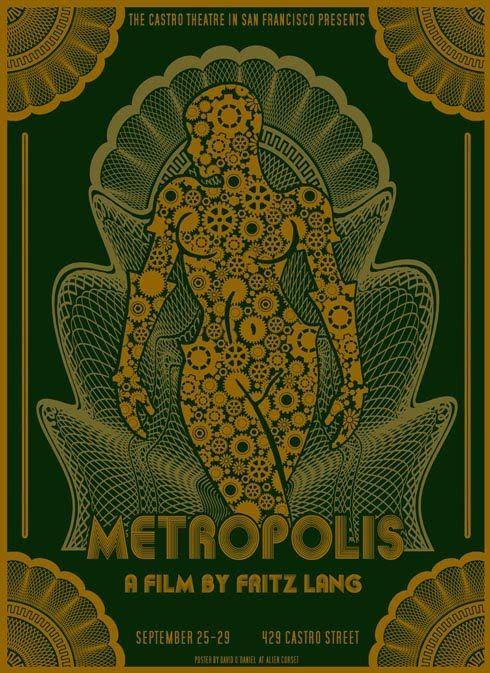 Metropolis at the Castro movie poster by David O'Daniel (2010)