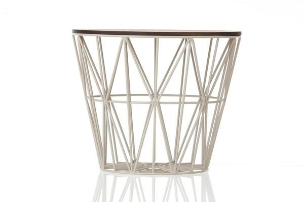 Wire Basket is practical in its essence -a  great companion to firewood, blankets, cushions, yarn, magazines, toys, or laundry. Whichever way you decide to slice it, the Wire Basket is useful in every space and can even serve as a stool or side table if you flip it over.