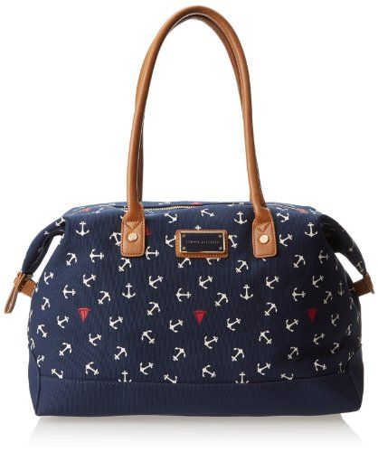 Tommy Hilfiger Nautical Critters Carson Shoulder Bag - http://handbagscouture.net/brands/tommy-hilfiger/tommy-hilfiger-nautical-critters-carson-shoulder-bag/
