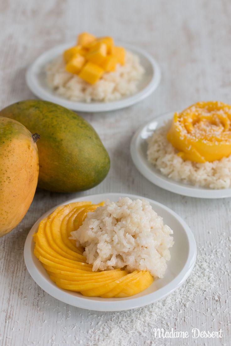 Mango mit Sticky Rice – Original Rezept für den Dessert Klassiker aus Thailand | Mango mit Sticky Rice ist DAS Dessert in Thailand.Er besteht aus fruchtig-reifenMangos, klebrigem Sticky Rice und einer süß-salzigen Kokosnuss-Sauce.