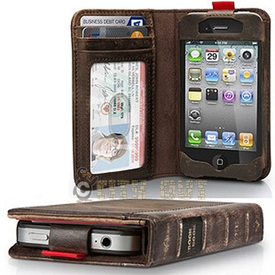 New Vintage Genuine Book Wallet Cover Leather Case.  One of the guys in my writer's group has this. I am epically jealous. Nicest wallet for your ebook reader!