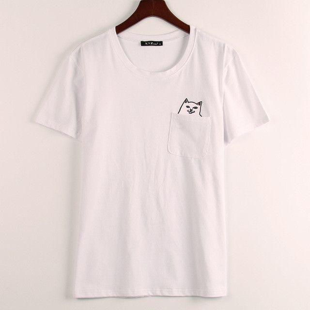 3 Colors Rock Fashion T Shirt Women Middle Finger In The Pocket Print T-shirt Women Joke Mischief Tee Shirt Femme Free Shipping