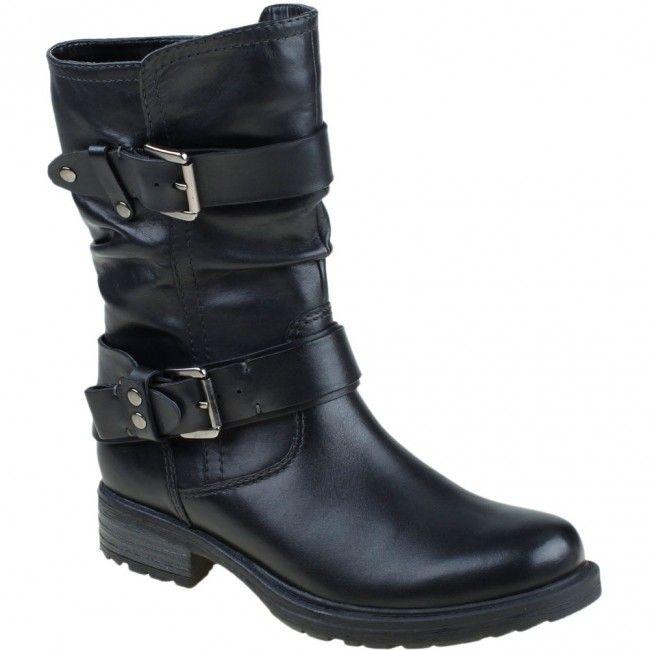 601215W-001 Earth Women's Everwood Casual Boots - Black www.bootbay.com