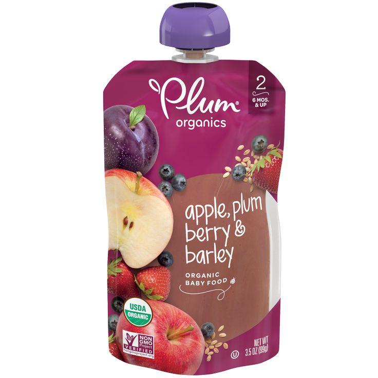 Apple blackberry coconut cream oat organic baby food