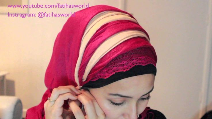 zigzag hijab tutorial (requested) using two scarfs BY FATIHASWORLD