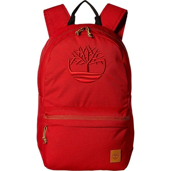 Timberland Mendum Pond Backpack (Red) Backpack Bags ($53) ❤ liked on Polyvore featuring men's fashion, men's bags, men's backpacks, red, mens one strap backpack and mens laptop backpack