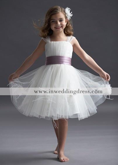 Discount Flower Girl Dresses,flower girl dress,little bride dress,tulle knee length dress with satin sash