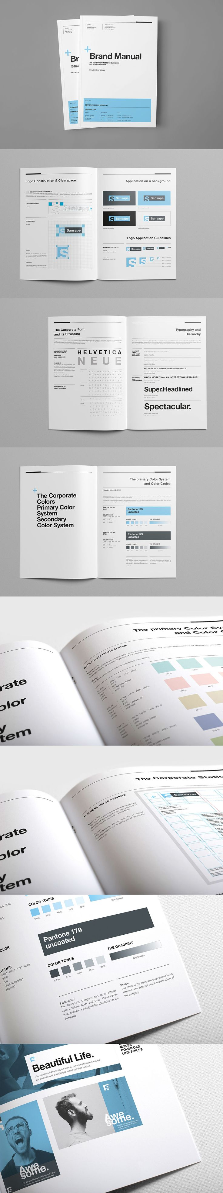 Brand Manual Brochure 40 Pages Template INDD