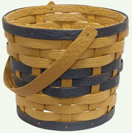 Amish Eco Friendly One Handle Planter Basket  Made of recycled plastic and UV treated to resist fading, this planter basket is perfect for a green household.