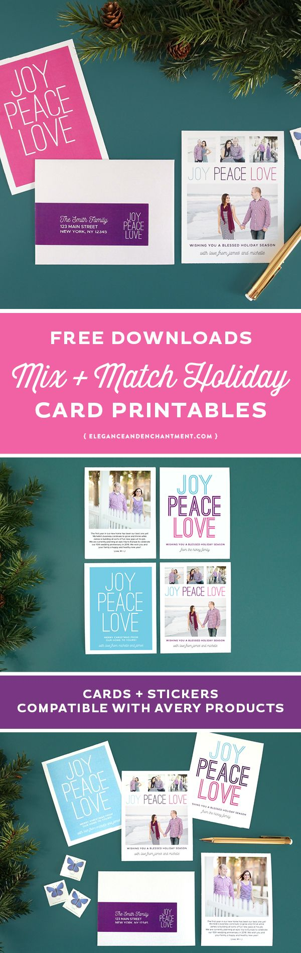 Mix and Match Holiday Card and Address