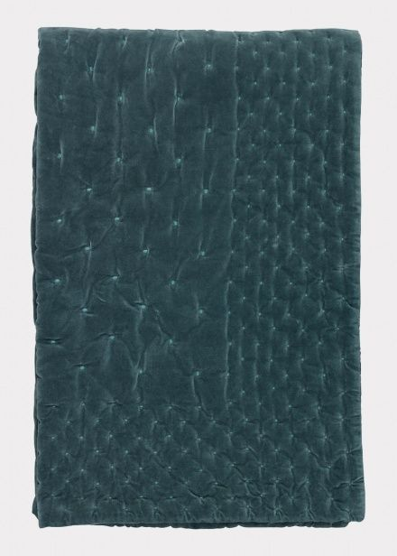 Paolo Bedspread – Bright Grey Turquoise   Bedroom   Bedspreads   Collections   Essentials   Linum