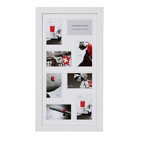 Geneva Collage Frame White with Matt 30cm x 60cm 8 Openings