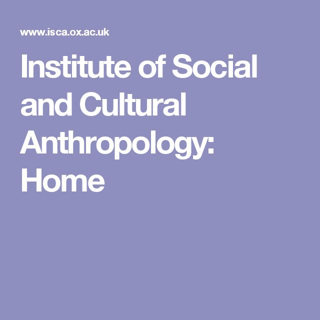 Institute of Social and Cultural Anthropology: Home