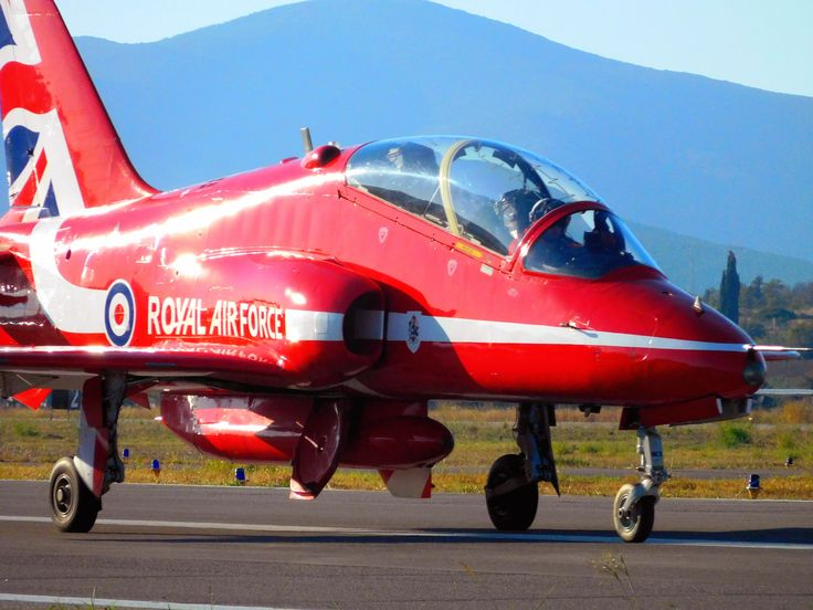A ''Red Arrow'' taxiing.