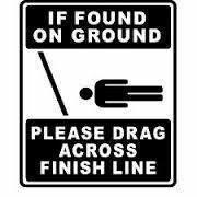 Please drag across finish line