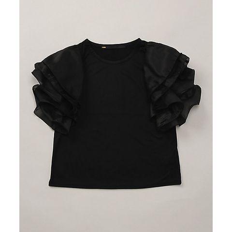 <ミュラーオブヨシオクボ>   フレアスリーブTシャツ (MLS15110)(ミュラー オブ ヨシオクボ[muller of yoshiokubo]のTシャツ)[No.10030981]のページです。たっぷりとしたフリルのスリーブが可愛いTシャツ。袖部分にはシアーな素材を用い、フリルを重ねてふんわりとボリューム感を持たせてあります。身頃はすっきりとコンパクトなシルエット。単色でコーディネートしやすく、カジュアルにもエレガントにもアレンジいただけるアイテムです。おすすめコメント:スタイリングにほどよい甘さを加え、華やかな雰囲気に仕上げてくれます。軽くてしなやかな風合いで快適な着心地です。【三越伊勢丹オンラインストア取扱】