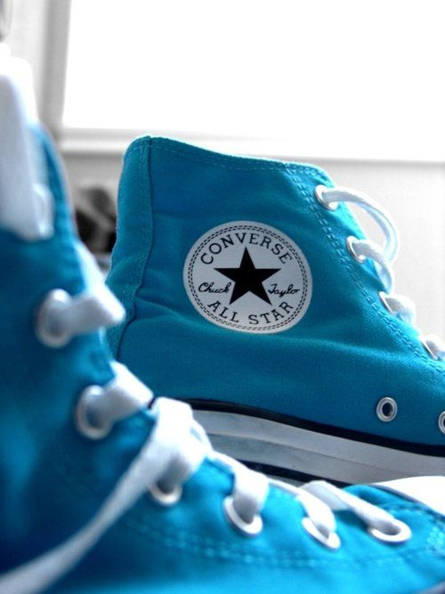 Can't forget the basics! sky blue converse all star