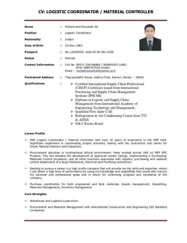 77 Beautiful Image Of Resume Examples For Logistics Coordinator Resume Examples Resume Sample Resume Format