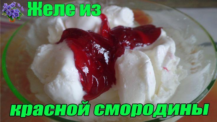 Желе из красной смородины на зиму простой рецепт: 1:1