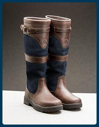 Mountain Horse Devonshire Damen Wasserdicht Stiefel aus Leder –  Dunkelbraun, navy, 48 - Stiefel