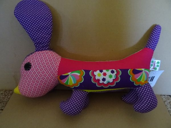 Sausage dog for sale!  http://www.nestling.com.au/sale---baby-accessories-c73/toys-c44/kavishka-flower-power-sausage-dog-p1128/