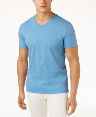 LACOSTE Lacoste Men'S V-Neck Pima Cotton T-Shirt. #lacoste #cloth #shirts