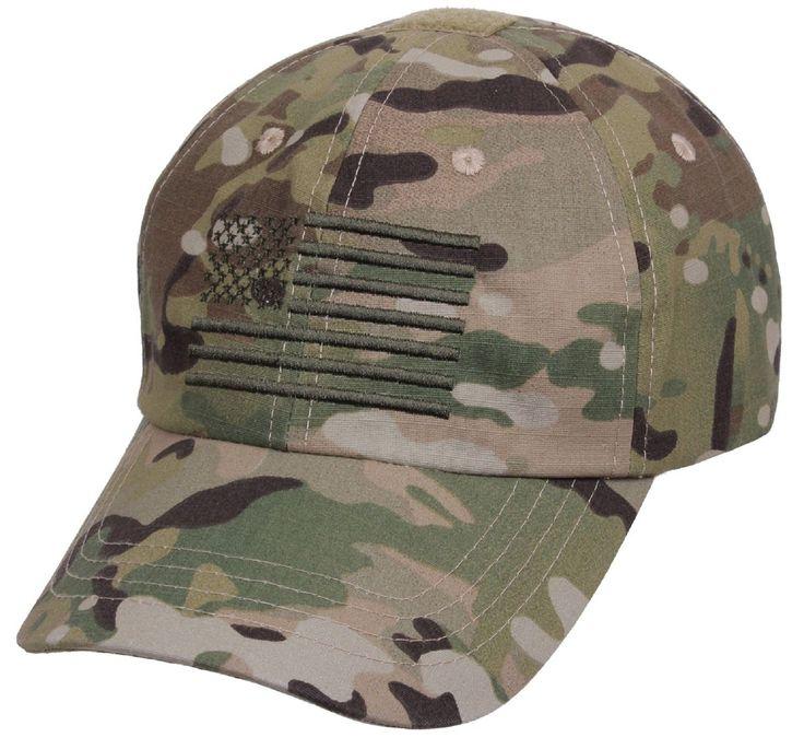 Men s MultiCam Embroidered USA Flag Tactical Cap - Adjustable Camo Baseball  Hat  3cd378610ef