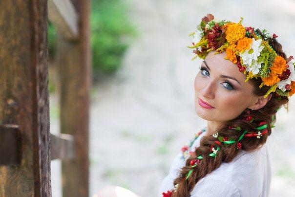 Современные прически в украинском стиле