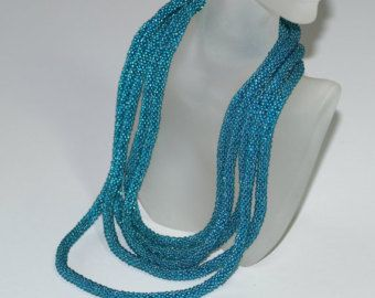 Aberash ... Bead Crochet Rope . Necklace . Bracelet . by time2cre8