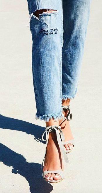 Lace up heels. | @alimatthews88