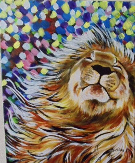 Acrylic animal painting for Easy acrylic animal paintings