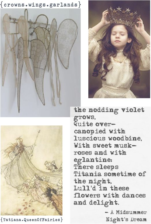 lily&Bloom . inspired . #9 . { William Shakespeare . fairy queens . day dreams . floral crowns . a Midsummer Nights Dream } .