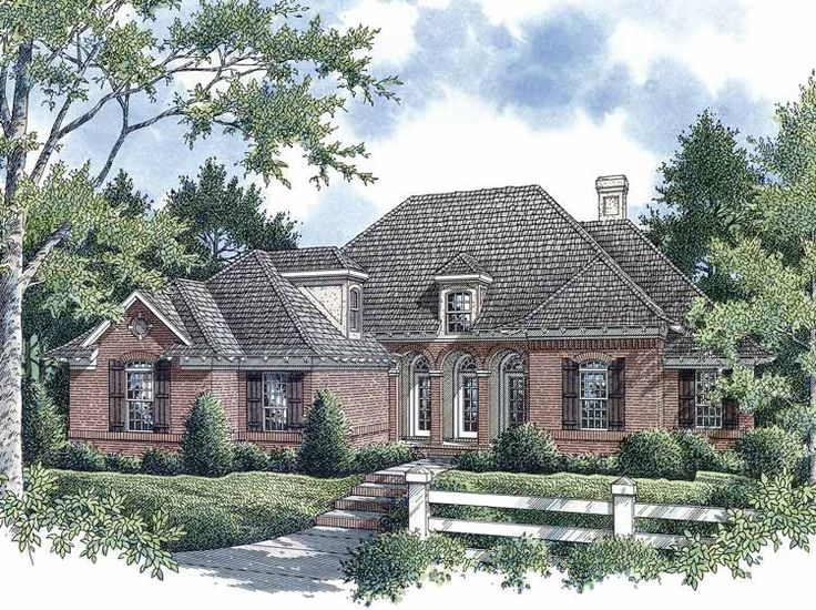 French country house plans with detached garage for French country garage plans