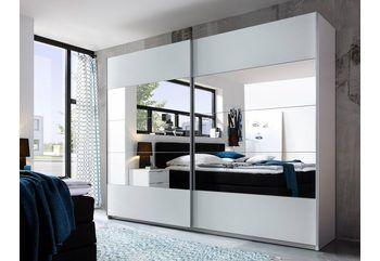 Schwebetürenschrank »Tubona«, inkl. Schubkasteneinsatz und Einlegeböden ab 399,99€. Mitteltüren mit Spiegel-Auflagen bei OTTO