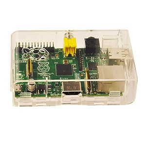 Raspberry Pi - Model B (Starter Kit with Linux and 512MB of RAM)  Specs: http://downloads.element14.com/raspberryPi1.html?isRedirect=true