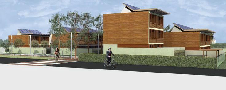 Il progetto fonda la propria strategia insediativa su una serie di considerazioni a scala territoriale e su un'attenta lettura del contesto, conferendo qualità urbana e architettonica al luogo mediante una continua relazione tra pieno e vuoto, tra edif...
