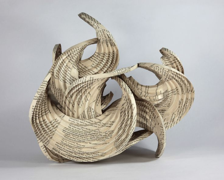 """Curved-crease origami inspired by Graham Greene's short story """"The Destructors"""" by Erik and Martin Demaine"""