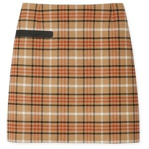 Tory Burch Plaid Side-Pocket Skirt